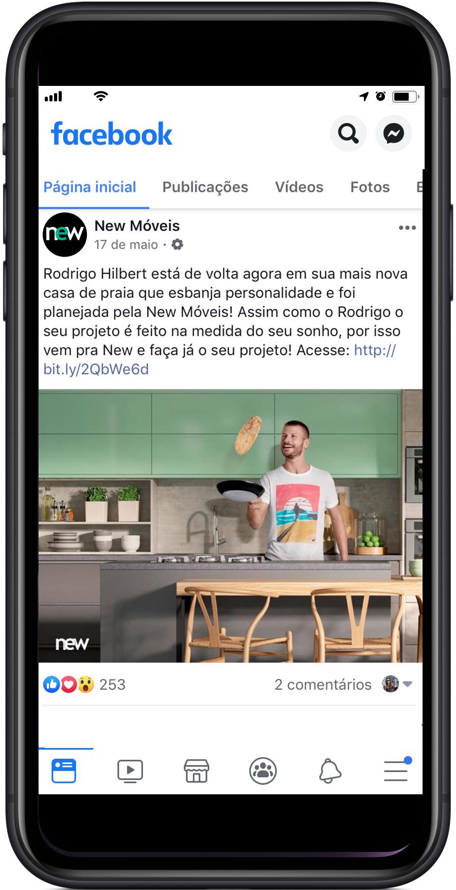 New Móveis Facebook